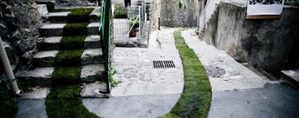 Green Carpet Installation Following Picturesque Pedestrian Trails