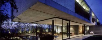 Fantastic Concrete And Glass Residence In Mexico