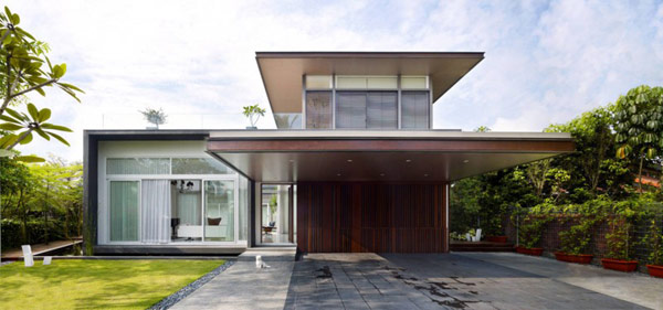 U-Shaped Modern Family Home in Singapore: Sunset Residence