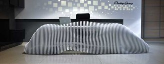 Sculptural Reception Desk For Cypriot Furniture Brand