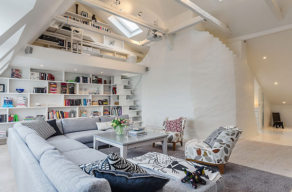 Collect This Idea Clever Design Ideas In A Lovely Stockholm Attic Apartment