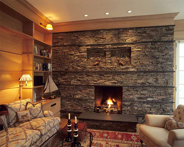 30 stone fireplace ideas for a cozy nature inspired home freshome com rh freshome com Stacked Stone Fireplace Ideas Stacked Stone Fireplace Ideas
