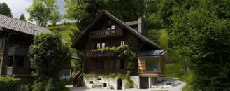 Easy To Spot Upgrade Of Century-Old Chalet In The Swiss Alps