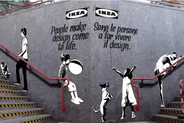 IKEA Promotes Milan Design Week Though Banksy Inspired Stenciled Posters [Video]