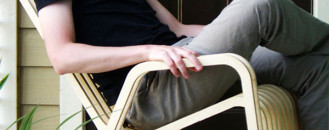 Pet and Person, Rocking-2-Gether In Patent-Pending Chair