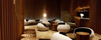 Elegant Tianxi Oriental Club in China Paying Tribute to Wooden Interiors