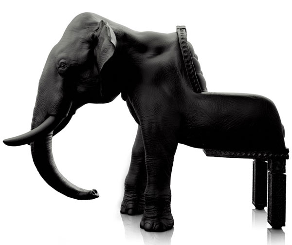 Maximo Riera's Elephant Chair Impresses With Detail Accuracy