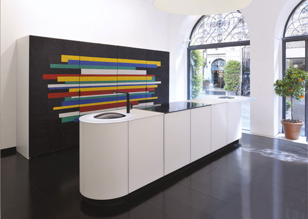 Modern Kitchen Gets a Colorful Mosaic Makeover