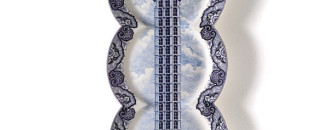 Innovative Delftware In A Long Plate Collection by Maxime Ansiau