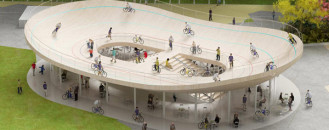 Cool Cycling Pavilion in Hainan, China: Bicycle Club by NL Architects