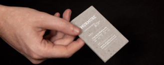 Introducing Yourself Originally: Concrete Business Cards by Murmure