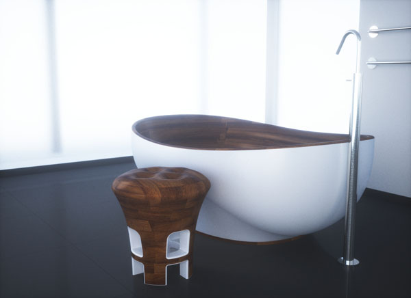Sleek Wooden Bathroom Collection by Kashani