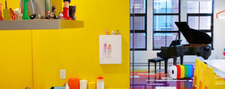 Contemporary Art Collector's Dynamic Colorful Loft