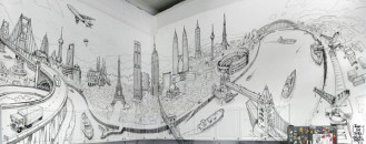 Artistic Global Urban Space Vision On A New York Kitchen Wall [Video]
