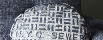 Urban Inspiration: NYC Sewer Cover Pillow For Casual Spaces