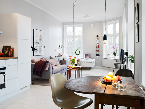 Small Apartment In Gothenburg Showcasing An Ingenious Layout - Small-apartment-design