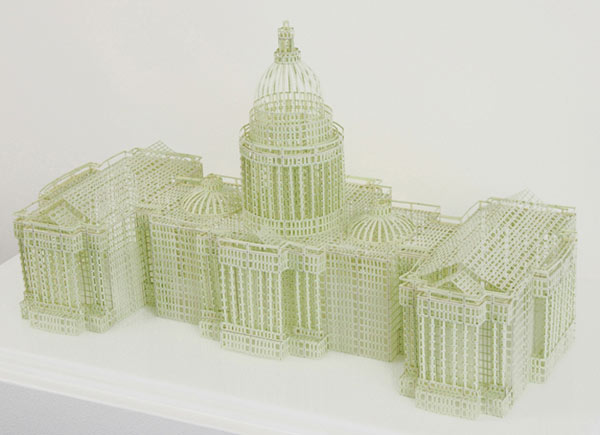 Three-Dimensional Financial Paper Architecture by Jill Sylvia