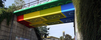 Re-Shaping A Bridge Into An Enormous Lego Passage
