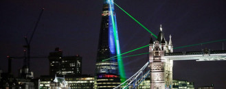 Europe's Tallest Building Celebrated with Explosive Laser Show in London [Video]