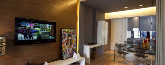 Small 45 Square-Meter Apartment Design Optimized by Maurício Karam