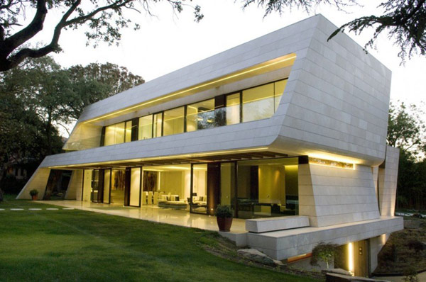 A-Cero Residential Project Defined by White Marble and Curving Shapes: Memory House