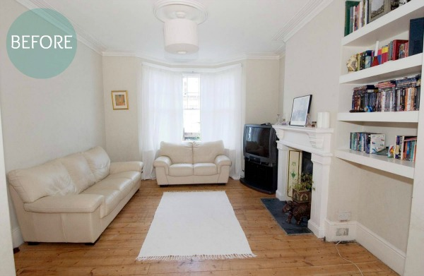 Living room before home staging by Jill Brandenburg via House Doctor Programme