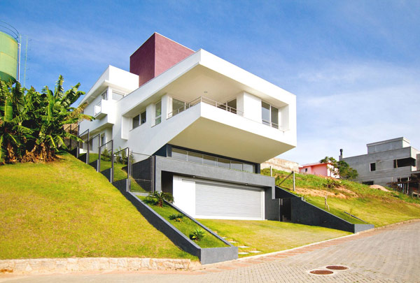Diverse Modern Architecture Originally Adapted to a Steep Site