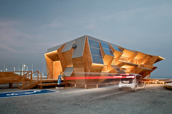 Genius Spanish Solar Pavilion Innovates Customized Prefabrication