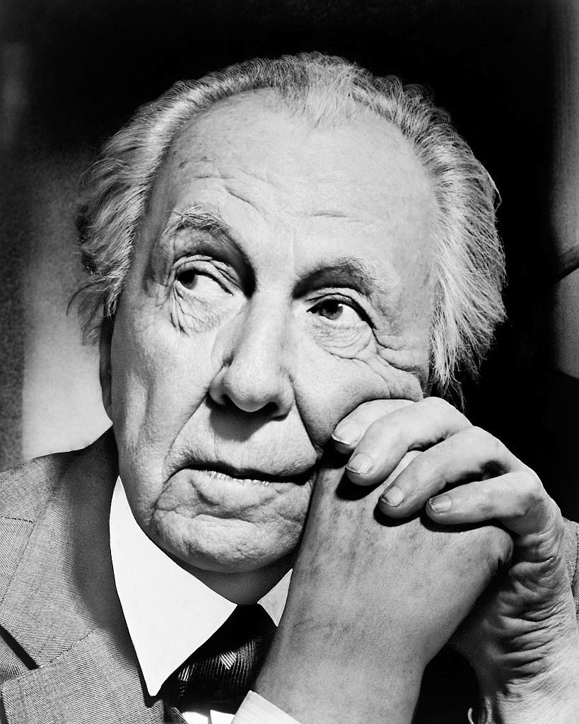 A portrait of famed architect Frank Lloyd Wright, New York, New York, 1954. (Photo by Al Ravenna/Underwood Archives/Getty Images)