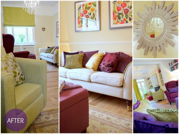 Living room after Home Staging by Sam Giddens of Mink Interiors