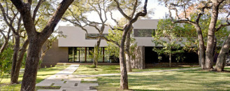 Waving Around Beautiful Oak Trees: West Lake Hills Residence