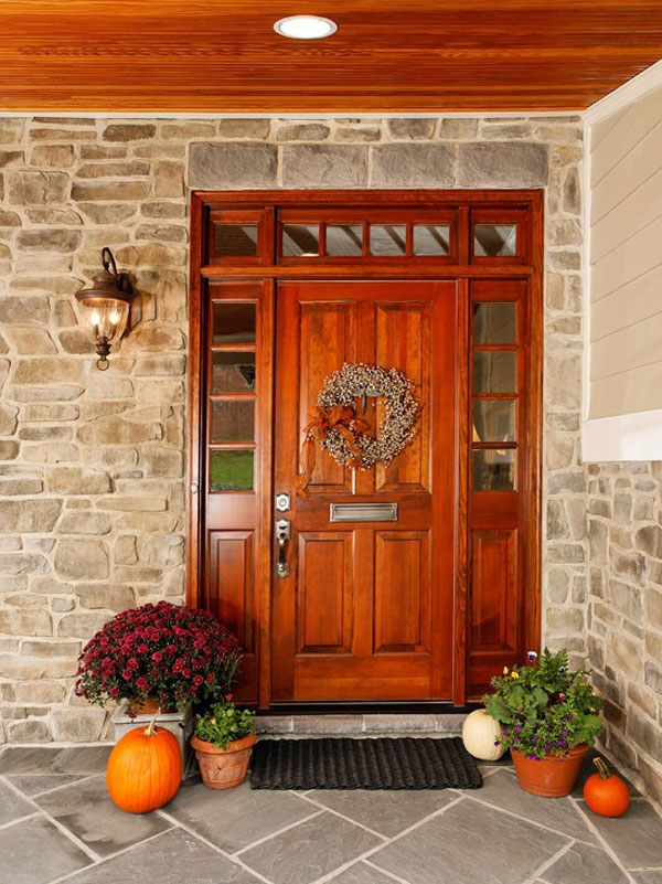 30 Inspiring Front Door Designs Hinting