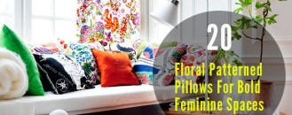 20 Floral Patterned Pillows For Bold Feminine Spaces