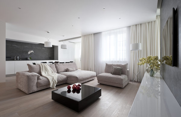 Modern Elegance Displayed by Generously-Sized Moscow Apartment