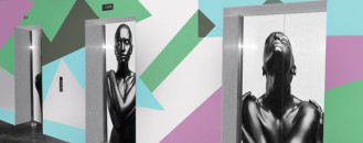 Artistic Elevator Wall Murals Visually Disrupting Work Routine by PIXERS