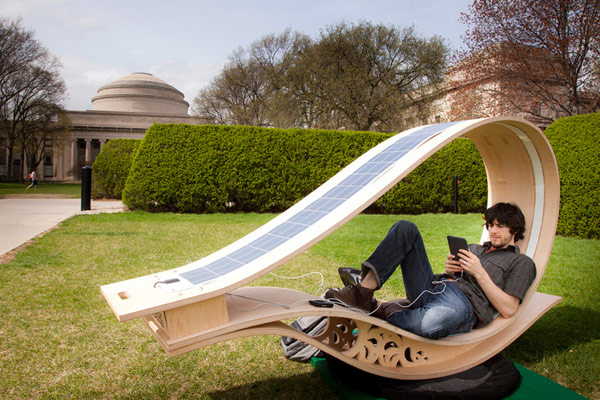 The Fun Way to Recharge Your Batteries: Solar Powered Sun Lounger