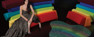 Colorful and Comfortable Upholstered Furniture Inspired by Rainbows: IRIS