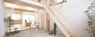 Charming Japanese Residence Blurring Indoor/Outdoor Boundaries: Kofunaki House