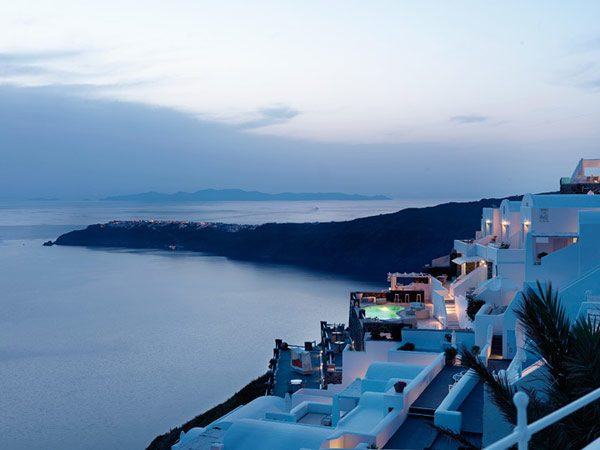 Collage of Amazing Sights at Tholos Luxury Hotel Resort, Santorini