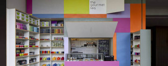 Ingenious Compact Gourmet Tea Shop Unfolds In Sao Paulo