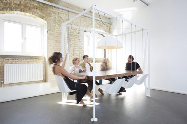 Add a Playful Rythm to Your Informal Gatherings: Swing Table