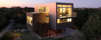Highly Modern American Home Showcasing A Dynamic Architectural Composition