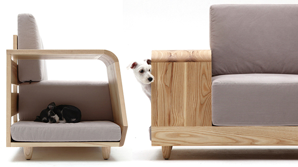 Modern Cushioned Sofa with Dog House Attached | Freshome.com