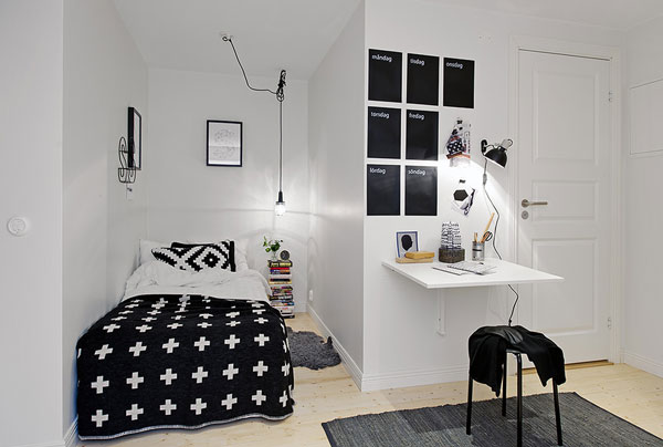 Collect This Idea Photo Of Small Bedroom Design And Decorating Black White
