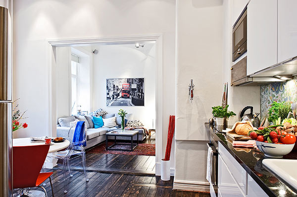 Small Swedish Apartment Securing The Inhabitant S Every Need This Look Couch Coffee Table Art