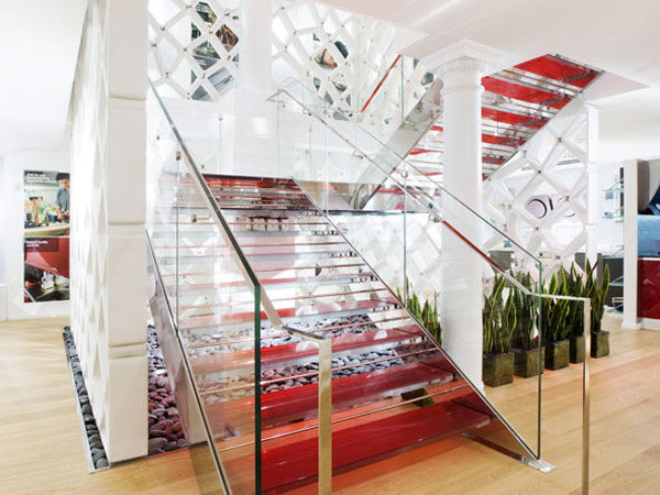 Tailor-Made Fontanot Staircase Adorning Scavolini's New York Showroom