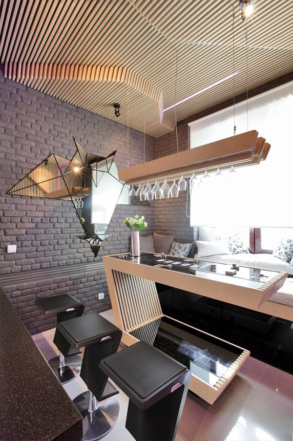 Sci Fi Kitchen In Moscow Exhibiting A Striking Choice Of
