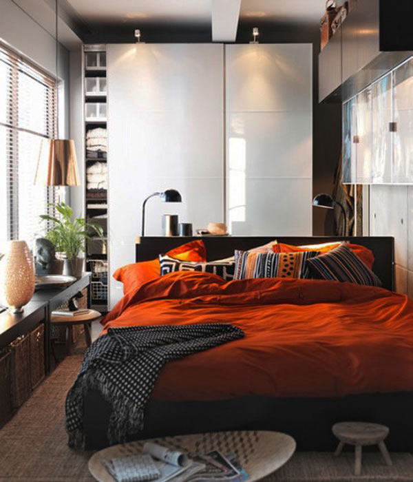 Collect This Idea Photo Of Small Bedroom Design And Decorating Orange Brown