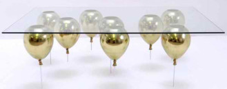 Fun Looking Coffee Table Apparently Suspended on Helium Balloons