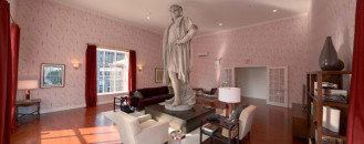New York's Most Famous Modern Art Living Room: Discovering Columbus Installation